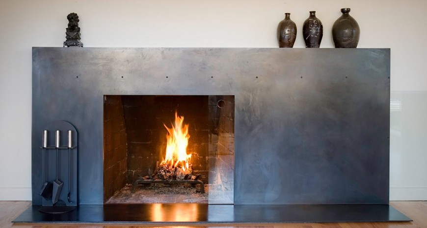 Metal fireplaces that give a modern look to any room