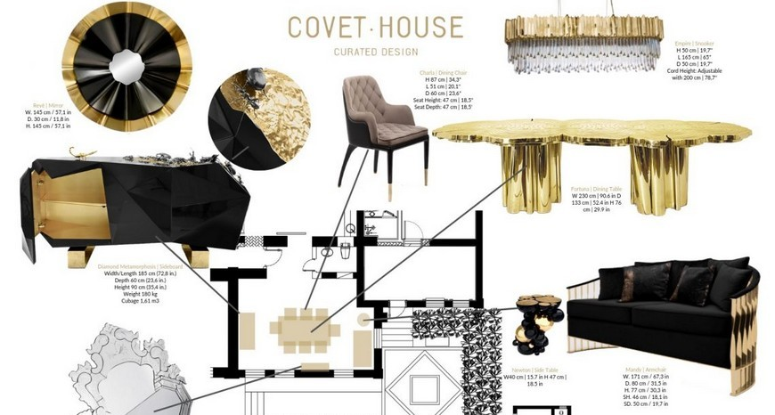 Learn How To Combine Black And Gold Into Your Home Decor