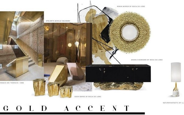 Create a Glamorous Living Room Design with Gold Accents