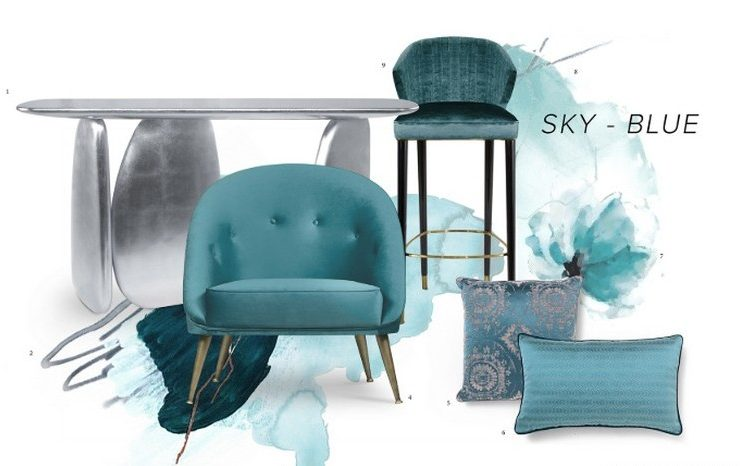 Give a Fresh touch to your home with the Sky Blue Trend