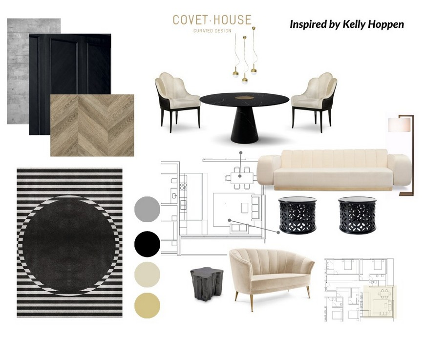 Shop the look with this Moodboard inspired in Kelly Hoppen